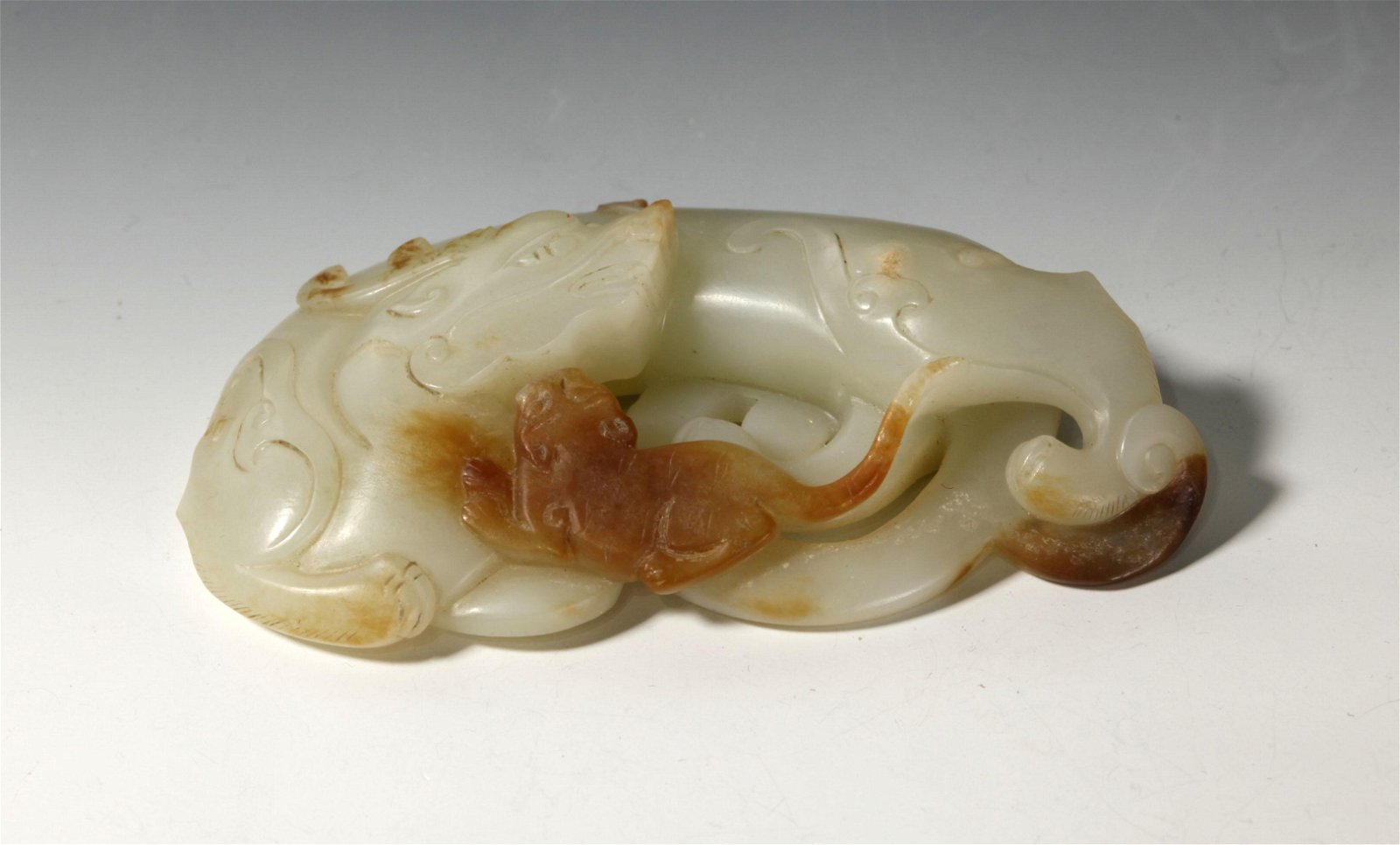 Chinese White Jade Dragon, Russet Tiger Toggle