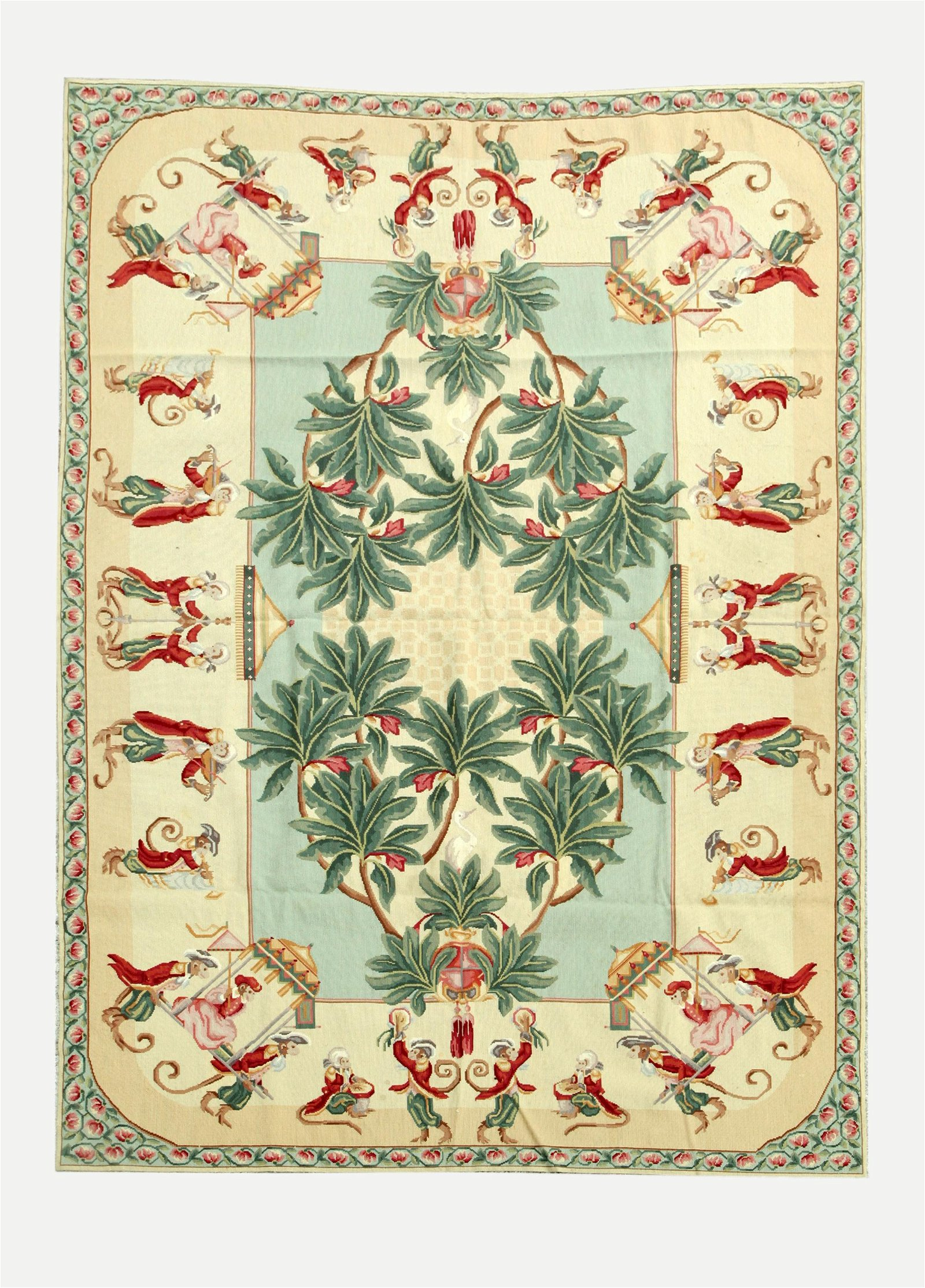 Needlepoint Wool Monkey Carpet