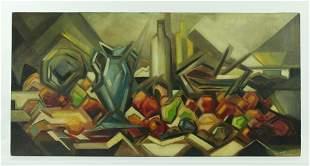 Andre Lhote; Cubist Still Life; Oil on Masonite