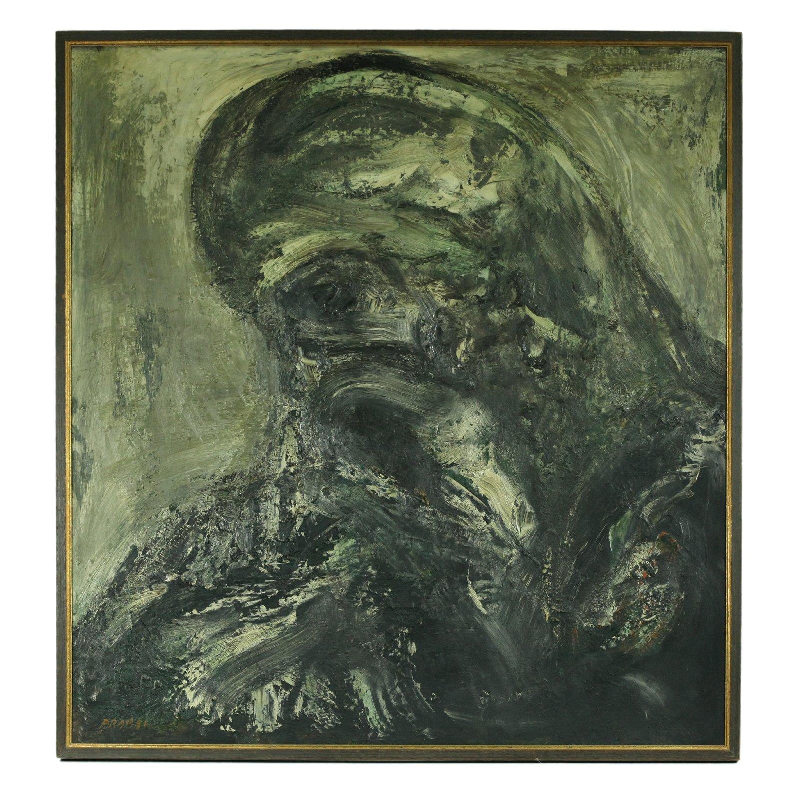 """Joachim Probst; """"Christ Doomed"""" Oil Masonite"""