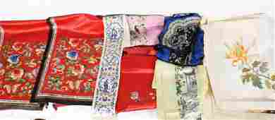 Group Qing Dynasty Silk Embroideries