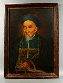 Sotheby's; Chinese 19 C Oil Portrait Li Hongzhang