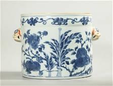 Chinese Kangxi Blue & White Porcelain Planter