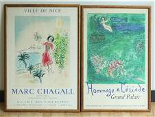 Marc Chagall; 2 Mourlot Litho Posters 1970, 1973