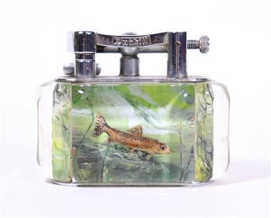 Rare Dunhill Aquarium Cigarette Table Lighter