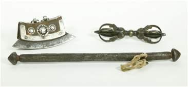 3 Tibetan Metals Flint Lighter Vajra Incense Case