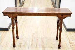 Fine Chinese Huanghuali Recessed Leg Altar Table