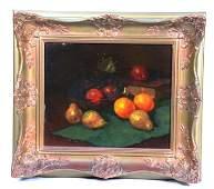 Paul Ruttan Dutch Still Life Fruit Oil on Board