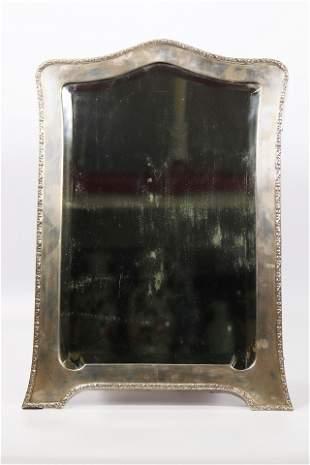 Austrian Silver 19 C Framed Dressing Table Mirror