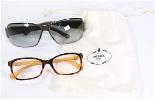 Pair of PRADA Eyeglass Frames and Sunglasses