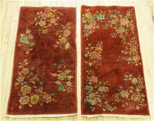 2 Similar Chinese Art Deco Nichols Wool Carpets