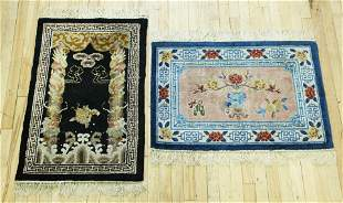 """2 Chinese Small Carpets; 36"""" X 24"""""""