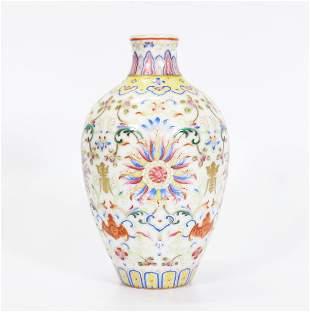 Chinese Fencai Enameled Porcelain Cabinet Vase