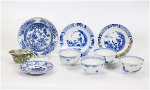 8 Chinese Kangxi Blue White, Biscuit Porcelains