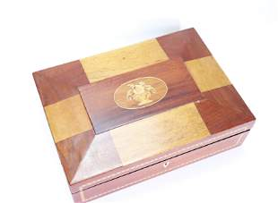American 19 C Sheraton Wood Inlay Box