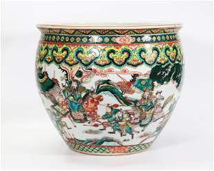 Qing Dynasty Chinese Famille Verte Fishbowl