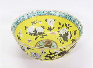 Chinese Yellow Da Ya Zhai Dragon Porcelain Bowl