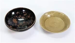 Chinese Spot Henan Porcelain Bowl, Celadon Plate