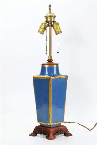 Chinese 19 C Gilt Bronze & Cloisonne Lozenge Vase