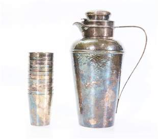 Gorham Silver 1924 Prohibition Cocktail Shaker Set