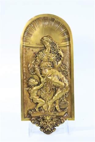 European Renaissance Revival Copper Alloy Plaque