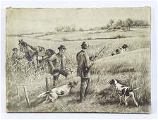 Edmund Henry Osthaus Grisaille Mixed Hunting Print