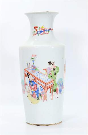 Fine Chinese 18 C Yongzheng F Rose Porcelain Vase