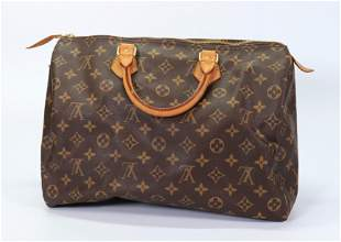 Louis Vuitton Speedy 35 Canvas & Vachetta Hand Bag