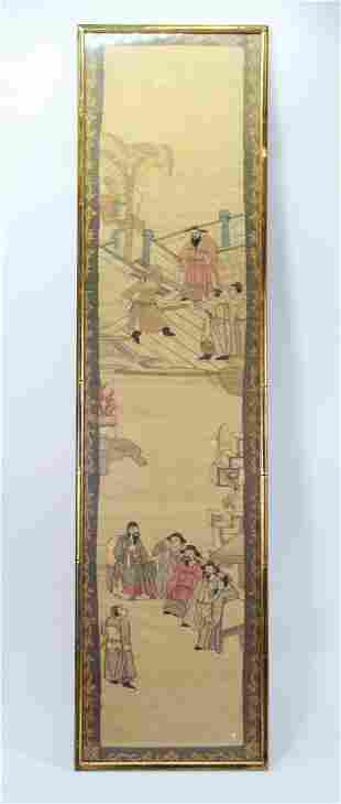 Chinese Silk Kesi Tapestry Panel