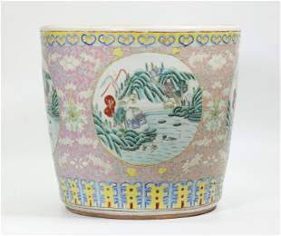 Chinese Famille Rose Enameled Porcelain Planter