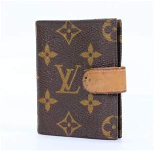 Vintage Louis Vuitton Credit Card Case w Leather