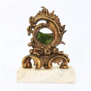 Gilt Cast Iron 19th C Baroque Pocket Watch Holder