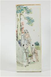 Xu Shan Qin; Chinese Artist Porcelain Hat Stand
