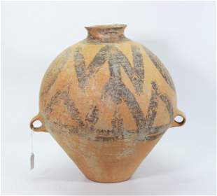 Chinese Figural Neolithic Terra Cotta Storage Jar