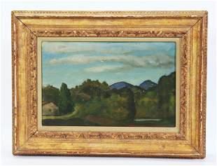 Vincent Canade; Calabrian Landscape Oil Panel 1931