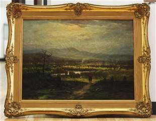 Elisha W. Hall 1869; Painter & Rider Oil on Canvas