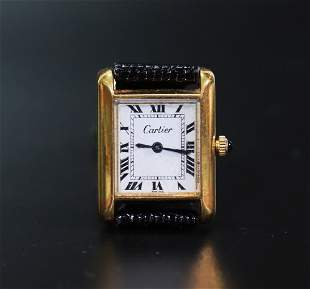 Vintage Cartier Inc Lady's Winder Tank Wrist Watch