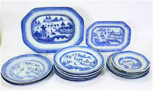 11 Chinese Canton Blue Porcelain 1 Staffordshire