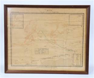 Rare Chinese Map German Heligoland Bight Dated '14