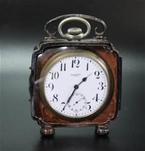 Majestic 8 Day Large Pocket Watch Sterling Case