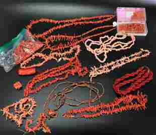 Large Group Branch Coral Drilled or Strung Beads