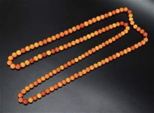 132 Butterscotch Amber Beads