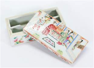 Chinese 19th Century Famille Rose Porcelain Box