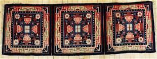 Tibetan 3-Square Wool Runner Carpet