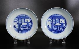 2 Chinese Blue & White Porcelain Yongzheng Plates