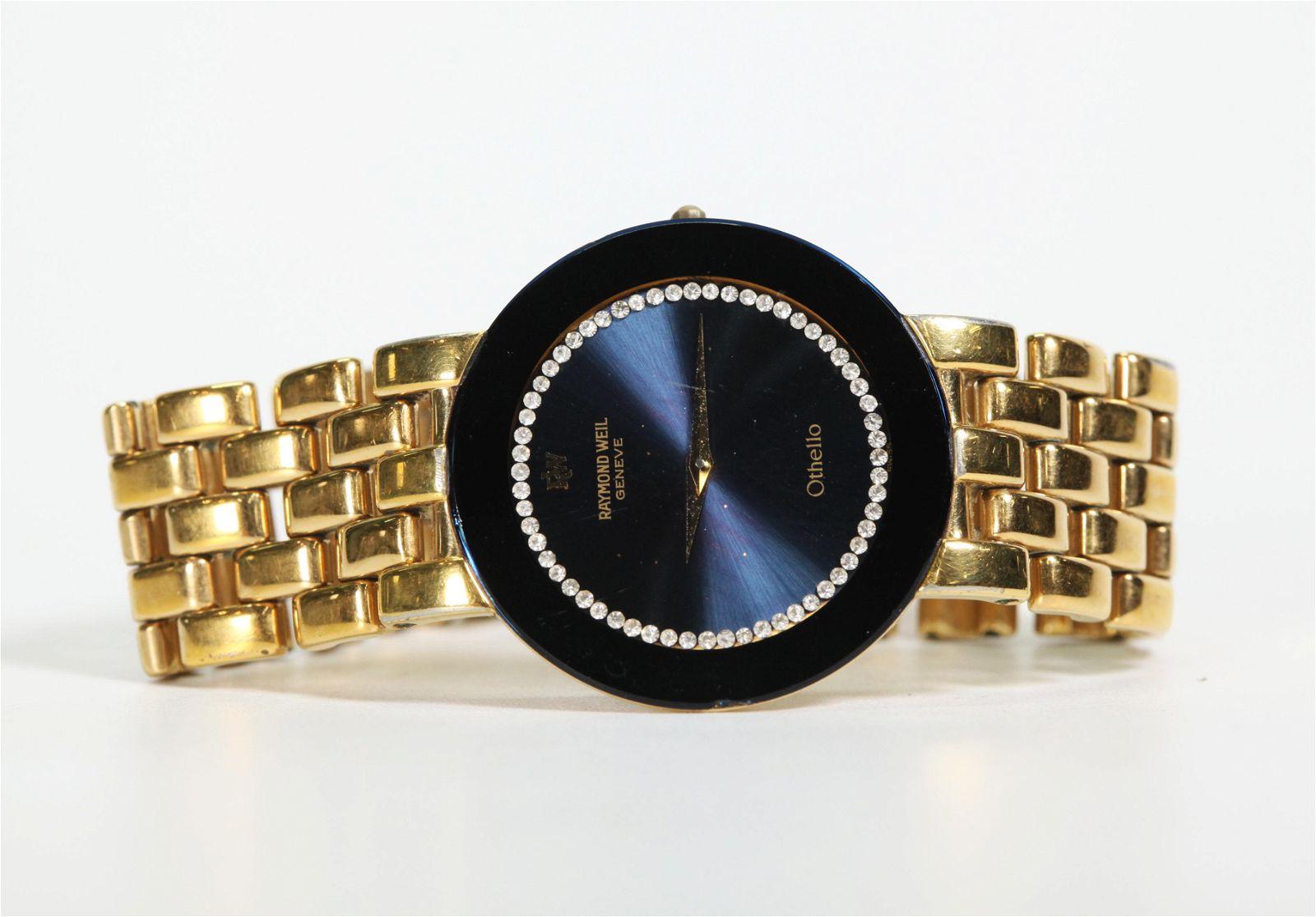 Raymond Weil Othello Quartz Watch Gold Plated Band
