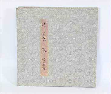 Wu Li; Album of 8 Ink Landscape Paintings on Silk