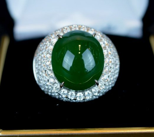High Quality GIA Certified Natural Jadeite Ring