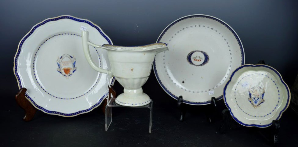 4 Chinese Export Porcelain Items