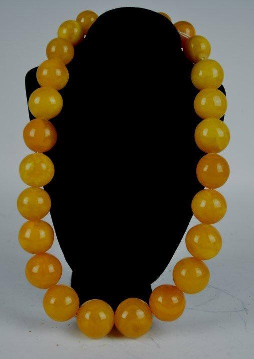 Chinese Butterscotch Amber Beads